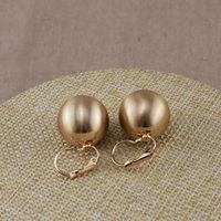 al por mayor al por mayor de hilo de oro de 18 quilates-Gran dibujo de alambre CCB Ball Clip Earring Plata 18K Oro 2 Color Geometría concisa OEM ODM Venta al por mayor