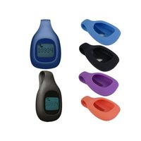 Wholesale Magnetic Clasp Clip Silicon Case Wireless Activity Tracker Clip Holder Silicone Pocket Clip Belt Holder For Fitbit ZIP Tracker