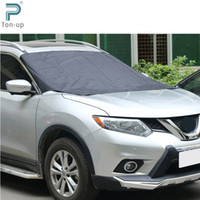 Wholesale Car Half Cover Windshield Sun Shade Waterproof Winter Snow Shield Anti UV Covers Auto Front Windscreen Rain Frost Sunshade