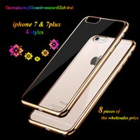 Wholesale 10 New iPhone plus s plus Case Transparent Crystal Clear Case Gel TPU Soft Cover Skin