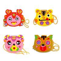 animal craft patterns - EVA DIY Handwork Toy Bags Cute Animal Style Bag Handmade Crafts Cartoon Backpacks Random Pattern K5BO