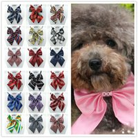 Wholesale Hot Sales Pet Supplies Dog Tie Wedding Accessories Dogs Bowtie Collar Holiday Decoration Christmas Grooming Ties Bow