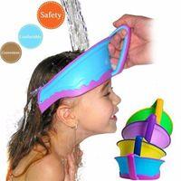 Wholesale New Kids Bath Visor Hat Adjustable Baby Shower Cap Protect Shampoo Hair Wash Shield for Children Infant Splashguard Waterproof