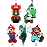 Wholesale Super Mario USB Flash Drive Cartoon Cool Yoshi GB Dinosaur Shaped Memory Stick GB Pen Drive Flash Disk GB GB Pendrive