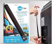 Wholesale Clear Tv key HDTV digital indoor antenna sleek slim design hidden behind TV Get broadcast tv for free
