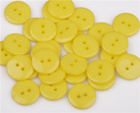 acrylic scrapbooks - Smooth Acrylic Sewing Buttons Scrapbook Round Loose Spacer Beads For DIY Jewelry Making Garments Decoration mm