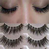 Wholesale Transparent False Eyelashes Messy Cross Thick Natural Fake Eye Lashes Professional Makeup Tips Bigeye Long False Eye Lashes