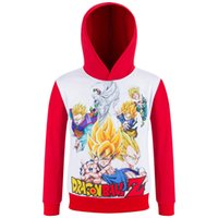 Wholesale 2016 New Spring Autumn Childrens Tops DRAGON BALL Hoodies Cartoon D Printed Hooded Kids T shirt Girls Boys Fashion Sweater Sportswear