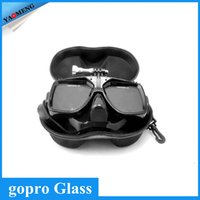 Wholesale Gopro waterproof Accessories Underwater Glass Diving Mask for Go Pro Hero camera hero session SJ4000 xiaomi yi