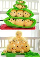 Wholesale Sweet peas plush toy doll Dutch pod plush pillow valentine s day gifts the car is small adorn article Birthday gift children s toy