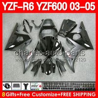 Wholesale 8gifts For YAMAHA YZFR6 YZF Stock black YZF R6 YZF600 YZF R6 Fairings Kit Flat Matte black Gloss black Bodywork