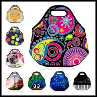 beverage cooler bags - Floral Lunchbox Bag Insulated Neoprene Picnic Cooler Bag Fashion Meal Bag Outdoor Necessary Food Storage Kids Adult Back to School