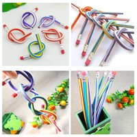 bendy toys - Soft Pencil Magic Flexible Bendy Pencil Office School Supplies Stationery Kids Writing Toy Gift