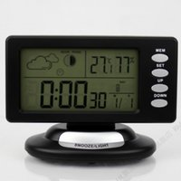 Cheap Alarm Clocks Led Electronic Desktop Clock With Thermometer Modern Digital Clock Snooze Function Weather Station