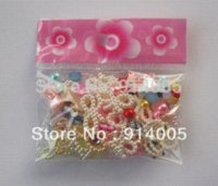 Wholesale MIXED of D beauty nail art pearl decoration mixed colors amp styles of bows flowers round plastic pearl