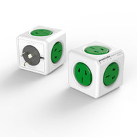Wholesale PowerCube square socket can be extended USB cube socket office magic green