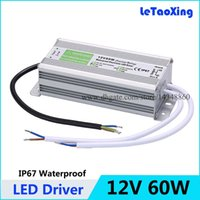 Wholesale DC V W LED Driver Transformers Waterproof Power Supply Transformer Power Adapter V A AC V Outdoor Use IP67 for Led Strip