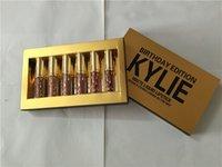 Wholesale Kylie Jenner Lipkit Lord Metal Gold the Limited Edition Birthday CONFIRMED Matte Lipstick lip Kit Cosmetics lipsticks set