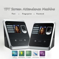 Wholesale 2 quot TFT Fingerprint Face Recognition Attendance Machine Time Clock Recorder Employee Check in Reader USB