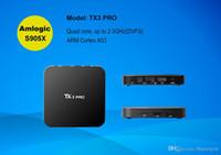 Wholesale 10P TX3 Pro Android TV Box G G Amlogic S905X Quad Core KODI Pre installed H K Support HD Streaming Media Player VS MXQ Pro