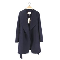 Wholesale New Women s Woolen Coat Simple have Pocket Soft and light Anti wrikle do not Fate Genrous Fashion Wool Cashmere