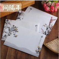 Wholesale Envelopes beautiful China style Plum Transparent paper decoration theme storage envelope discounts