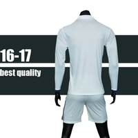 Wholesale 2016 Champions League RONALDO Jersey benzema bale Soccer Jerseys Football Tops long sleeve size S M L XL print name and number