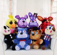 Wholesale 30PCS HHA811 Five Nights At Freddy s plush dolls cm cm styles animal Freddy Bonnie Chica Foxy FNAF figures toys halloween