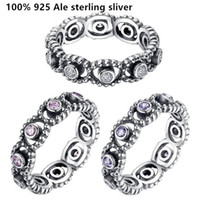authentic vintage jewelry - 2016 new arrived vintage rings AAA Zircon Authentic sterling silver European style fits for pandora jewelry women charms