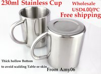 Wholesale Stainless Steel Kids Cups Non Magnetic Double Thick Children Water Cup Students Cup Prevent Heat and Scalding Polish Inside and outside