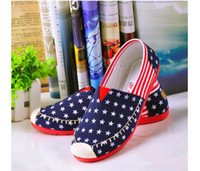 beijing gold - The red shoes canvas shoes casual shoes old Beijing shoes breathable cotton cloth round female shoe