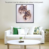 Wholesale Cross Stitch Set Precise Printed Wolf Totem Design Cross Stitching Room Decal Embroidery Kit