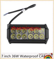 Wholesale 7 inch W Waterproof LED Offroad Work Light Flood Off Road Driving Light for Car Truck Boat K Hot Selling