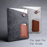 Wholesale China Wholesale Macbook Pros - For Amazon Kindle Macbook air bro Leather Case 11 13 15 Inch Ipad Pro Wool + Leather Cases Custom Design Size