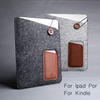 accessories macbook pro - For Amazon Kindle Macbook air bro Leather Case Inch Ipad Pro Wool Leather Cases Custom Design Size