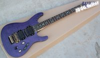 Wholesale MONSTER AXE Super Thin Herman Li EGEN18 Signature Electric Guitar Transparent Violet Flat ultra fast Neck Flyod Rose Tremolo Bridge