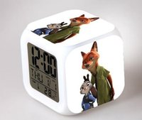 antique style radio - new zootopia Judy nick colorful color creative small alarm clock alarm clock kids gift toy
