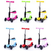 baby seat wheels - 3 in Special Edition Children s scooters with adjustable Seat and O Bar Micro Style mini kids kick scooter baby Walker ages