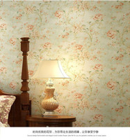 american moulding - 10 m and retail pure paper wallpaper American retro flower background wallpaper bedroom living room full of shops
