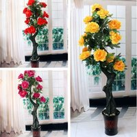 Wholesale Simulation Tree Peony Simulation Of Large Living Room Simulation Tree Peony Plants Fake Tree Silk Plant