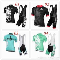 bianchi pink - 2016 New Arrival Bianchi Cycling Jerseys Set Black Red Blue Green Cycling Clothing For Men Summer Outdoor Ropa Ciclismo Padded Bib None Bib