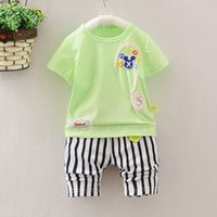 age suit - The new children s clothing baby boy female infant children s clothing short sleeve children suit summer at the age of