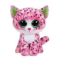 baby big cats - Original Ty Beanie Boos Big Eyes Plush Toy Doll Husky Cat Owl Unicorn TY Baby Kids Gift cm