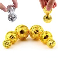 ball point needles - Magnetic for Palm Massage mm Balls Needle Trigger Point Muscle Health Care for Home Office Physical Exercise golden silver color