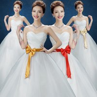 Wholesale Korean version of sweet princess bride wedding dress was thin and elegant dress