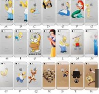 Wholesale Princess Snow White Frozen Elsa Little Mermaid Ariel Semi Simpsons Spiderman Matte Clear Case for iphone S S SE C Plus case