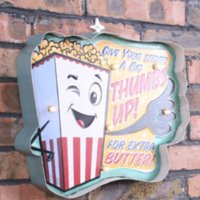 Wholesale The new Continental antique to do the old retro classic popcorn shape LED neon signs wrought iron decorative iron wall l
