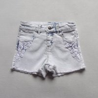 Wholesale Y children denim shorts girls madchen jeans Girls Jeans Shorts with Lace Kids Denim Bermudas Shorts Denim Shorts summer