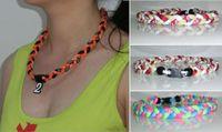 Wholesale New tornado necklace titanium braided ropes necklace tornado SPORTS football baseball