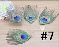 Wholesale 7 Small eye pack Natural beautiful peacock feather cm Mask jewellery clothing shoes hat accessories